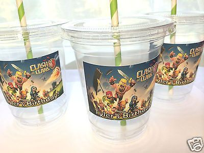 Clash of Clans Birthday Party Cups Favors Gifts (12 pc)