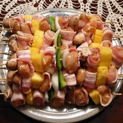 Chicken And Bacon Shish Kabobs Recipe — Dishmaps
