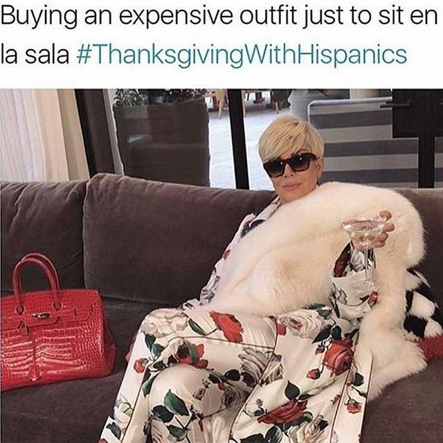 Yooo, if I wasn't home sick, this would be me at my aunt's house, stuntin'! LOL! Happy thanksgiving folks! #latinosbelike #thanksgivingwithhispanics #extraaf