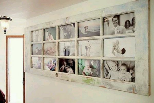 Old Door Photo Frame - Creative Door Repurpose Ideas, http://hative.com/creative-door-repurpose-ideas/,