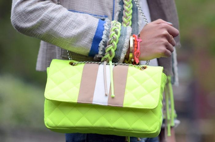 braided details, neon details