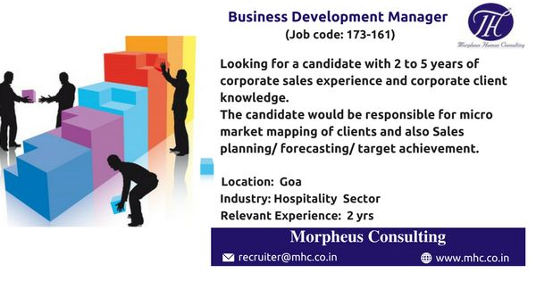 We Are Looking For An Experienced Manager Business Development