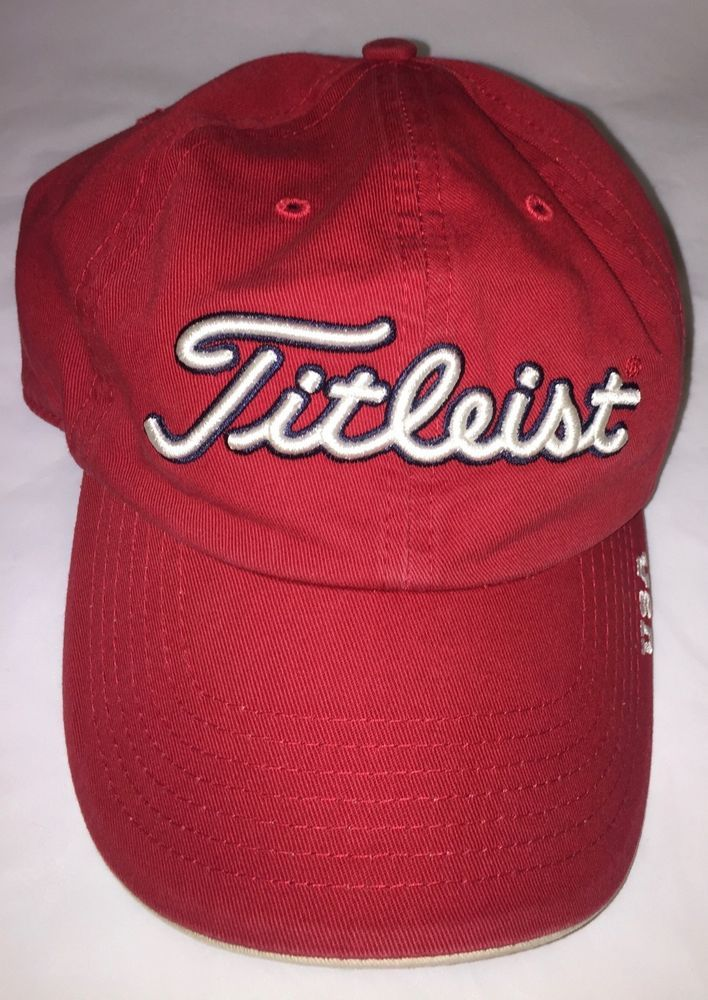 cb0a5cf2b86 Titleist Golf Hat U.S.A Unisex Adult Adjustable Red Cap  fashion  clothing   shoes  accessories  mensaccessories  hats (ebay link)