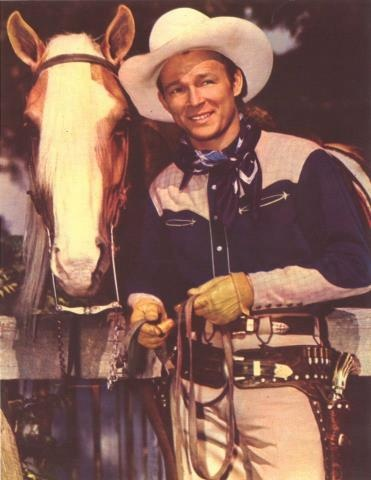 Roy Rogers, the king of the cowboys and Trigger, the smartest horse in the movies.