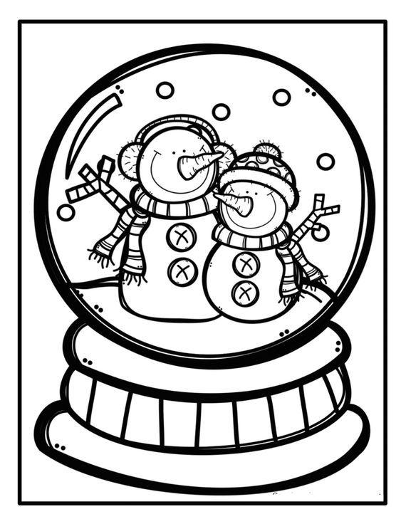 Kış Mevsimi Boyama Sayfaları Kardan Adam Christmas Coloring