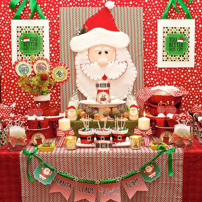 Santa Claus Is Coming To Town Christmas Party via Kara's Party Ideas KarasPartyIdeas.com Valerie Gimre of Charming Touch Parties.