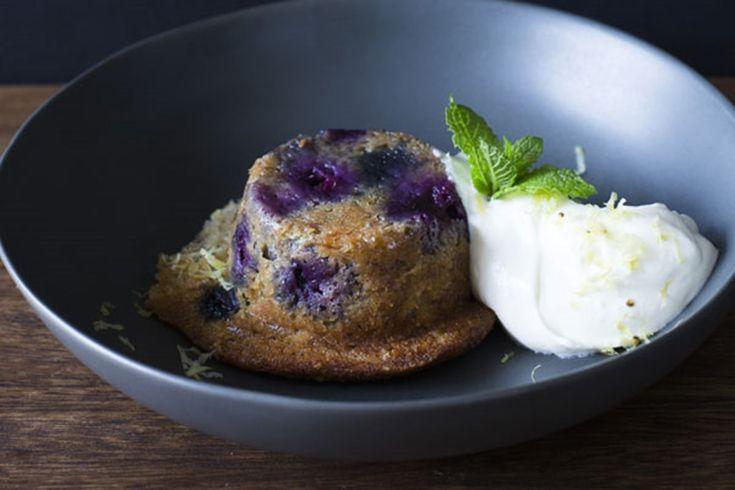 Banana blueberry puddings