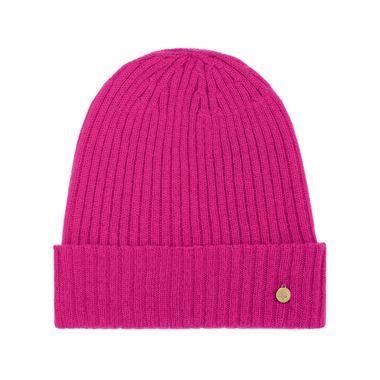 Rib Beanie in Mulberry Pink Camel Hair