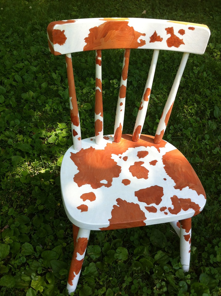 Hand Painted Pony Print Chair. $109.99, via Etsy.