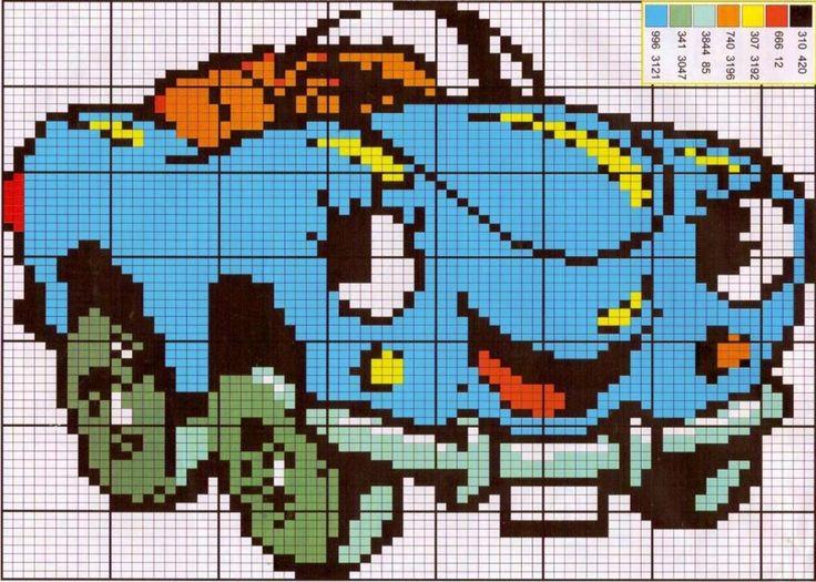 Disney Cars x-stitch