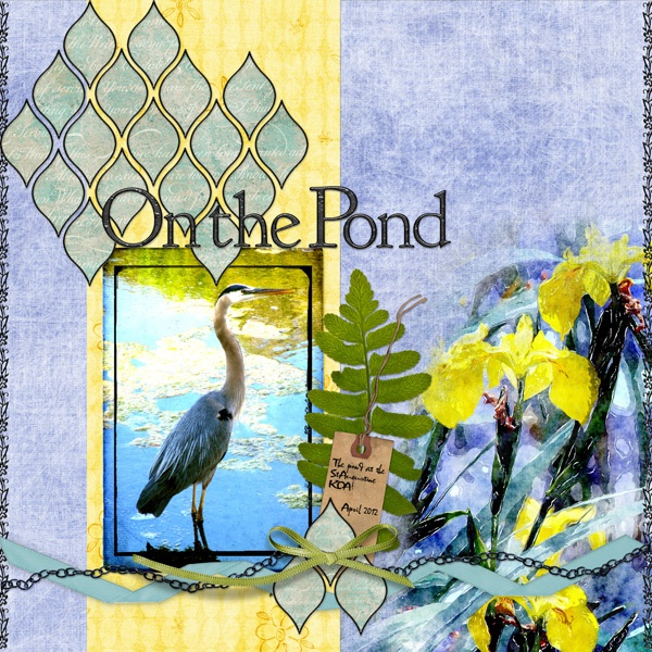 On the Pond Digital Scrapbooking Layout by Jan Hicks: Watercolor, Scrapbook Layouts, Pond Digital, Shape, Digital Scrapbooking Layouts
