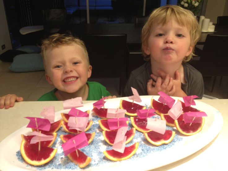 The Lammys made these jelly boats for Milla's 3rd bday party