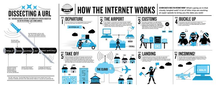 How the internet works, explained by Ninjas