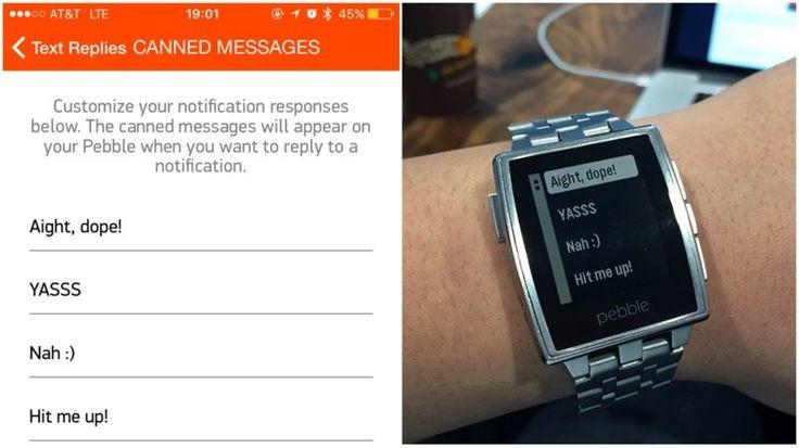 Pebble Update Introduces Custom Messages, Health Improvements http://www.macrumors.com/2016/02/03/pebble-update-custom-messages/