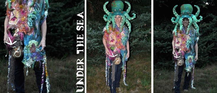Octopus and Mermaid shawl