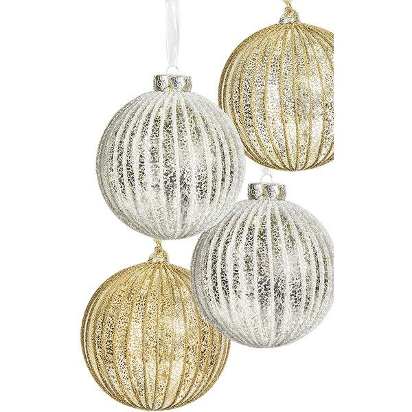 Old World Splendor Christmas Ornament Set - 100mm ❤ liked on Polyvore featuring home, home decor, holiday decorations, old world christmas ornaments, old world home decor i old world xmas ornaments