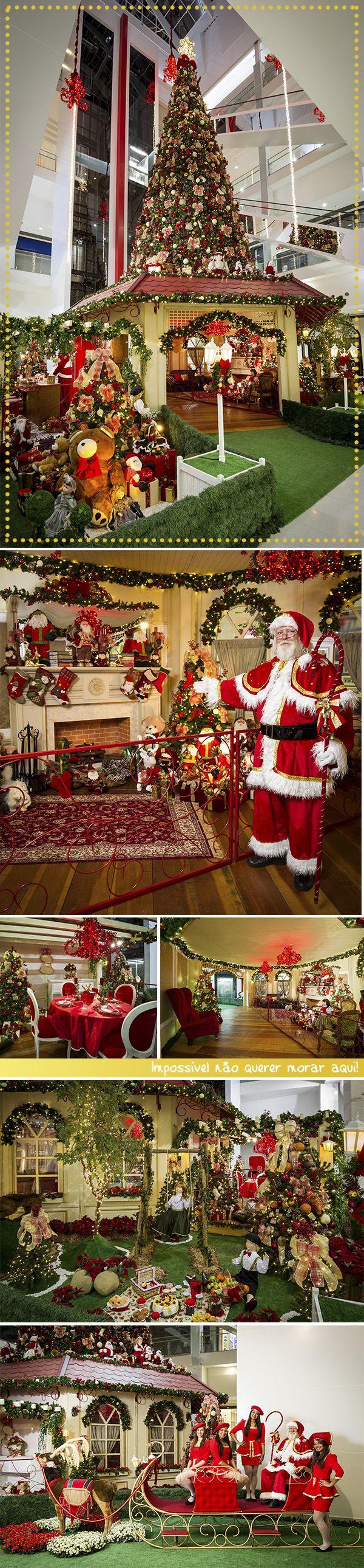 Sabiam que a casa do Papai Noel está aqui no Taguatinga Shopping? ♥