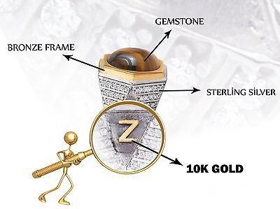 Anel Masculino Prata Personalizado com as iniciais individual de Ouro 10k (todos Os Tamanhos)