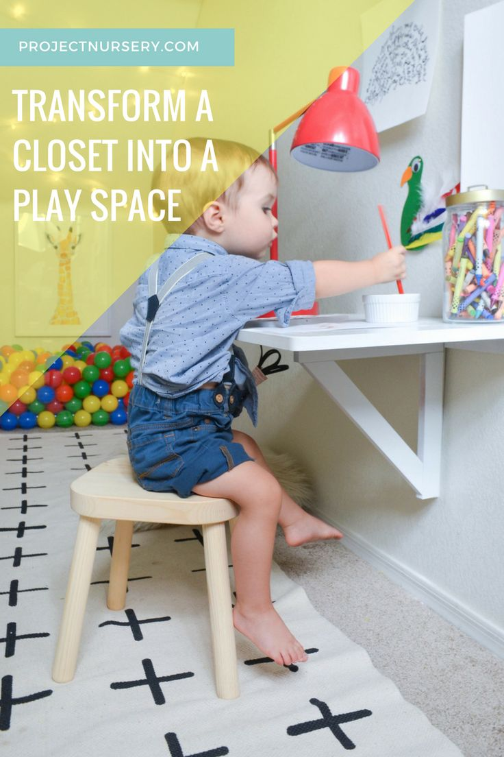 Turn Your Childs Closet Into A Magical Play Space