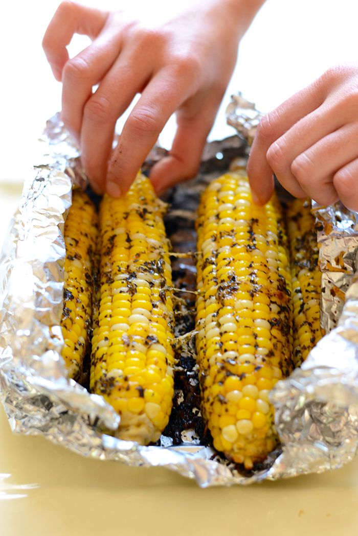 Olive Oil Parmesan Grilled Corn - Fit Foodie Finds