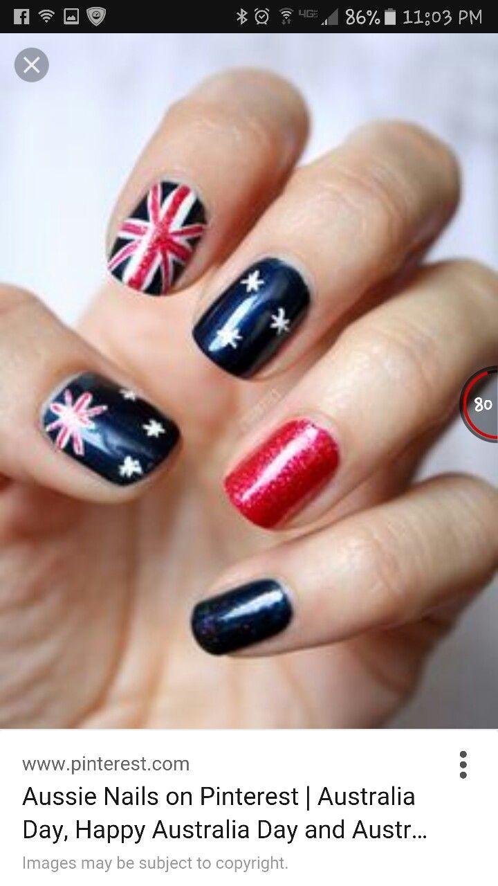 Mejores 49 imágenes de Australia Day Nails Inspiration en Pinterest ...