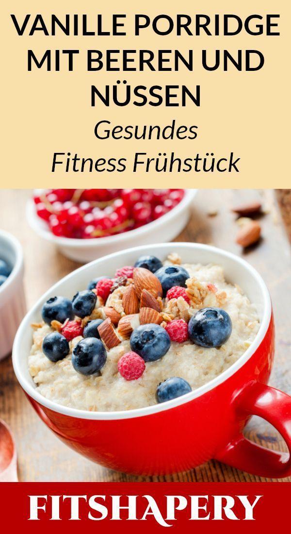 Dieses Vanille Porridge hat viel Eiweiß und ist ein leckeres gesundes Frühstü…