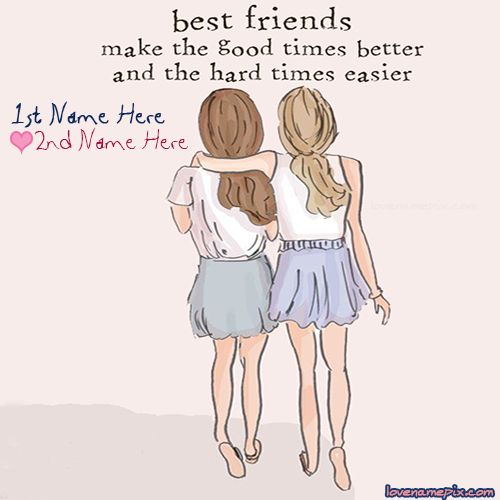 Best Friend Quote Sweet : Best friendship quotes love name pix write names on