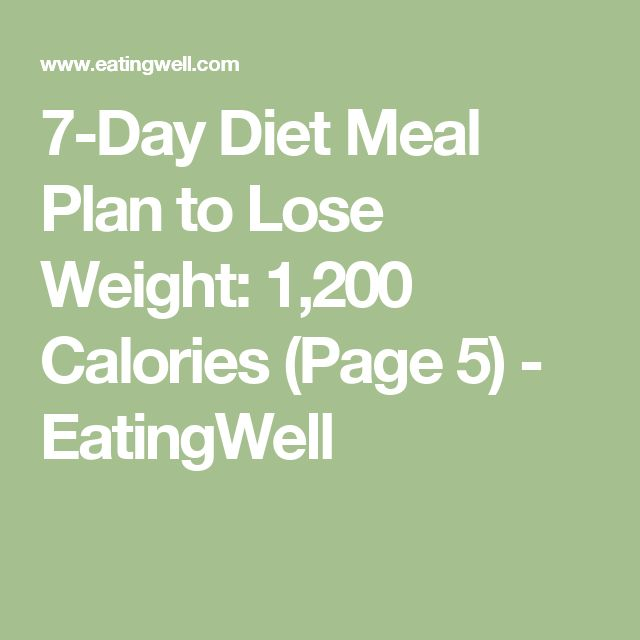 7-Day Diet Meal Plan to Lose Weight: 1,200 Calories (Page 5) - EatingWell