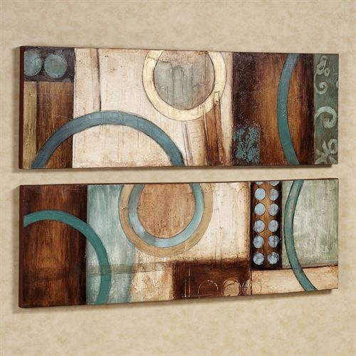 Lavare Canvas Art Set Aqua