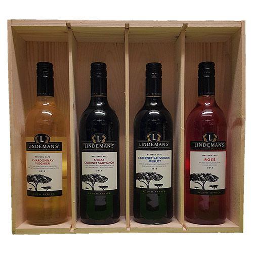 Quality Fruit Baskets. X4 Lindemans Zuid Afrika Chardonnay en Viognier Chardonnay is in deze wijn gemengd met viognier. Die voegt frivole aroma's toe waardoor de zachte, ronde wijn een frisfruitige lift krijgt. Voor zo en aan tafel. Smaak: Vol Druivenras: Chardonnay, Viognier Land/Streek: Zuid-Afrika, Westkaap Lekker bij: Zalm, Kip & kalkoen - Shiraz en Cabernet Sauvignon Geweldige wijn met een perfecte balans...