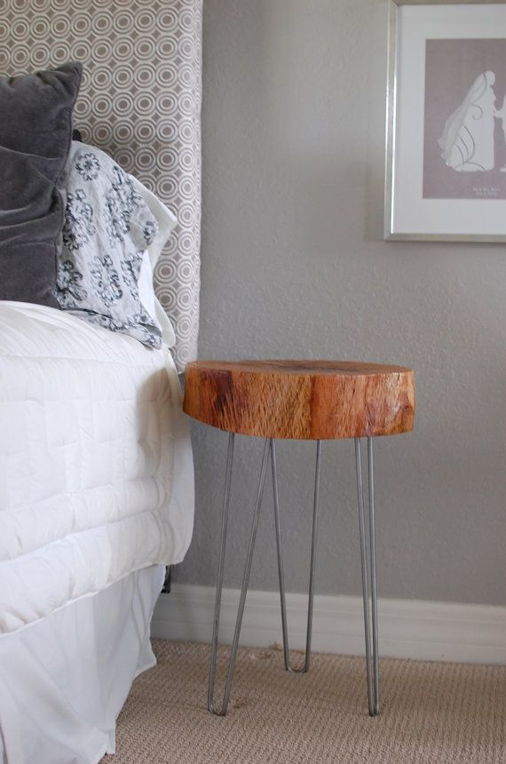 Tree Stump Bedside Table Rustic Wood by sumsouthernsunshine, $175.00