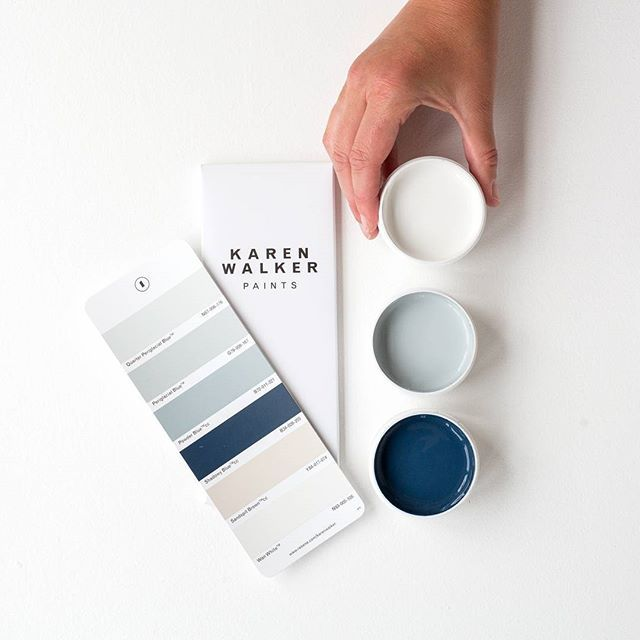You're the pick of the bunch, Happy Valentines Day! Testpots from top in Resene Wan White, Resene Periglacial Blue and Resene Shadowy Blue from palette one of the Karen Walker Paints range. #KarenWalkerPaints #KarenWalkerforResene #perfectpalettes #softtones #colourinspiration