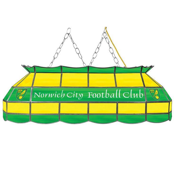 Norwich City FC Hanging Tiffany Bar Lamp, Green