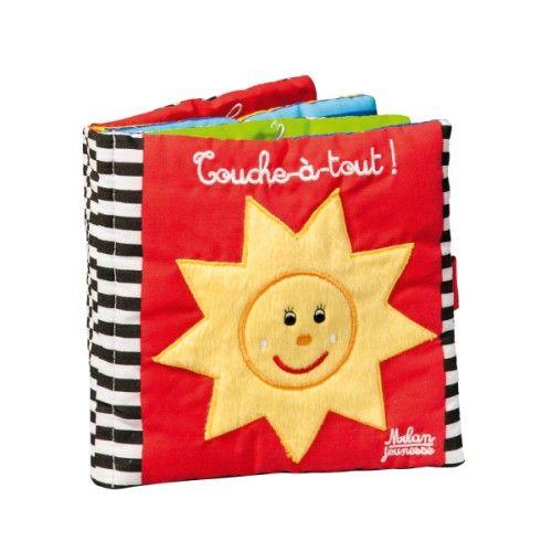 Livre tissu Touche à tout pour enfant de 3 mois à 1 an et demi - Oxybul éveil et jeux