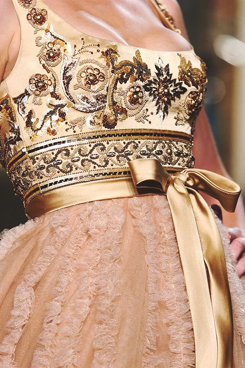 Scooped neckline and embroidered bodice! Zuhair Murad 2013