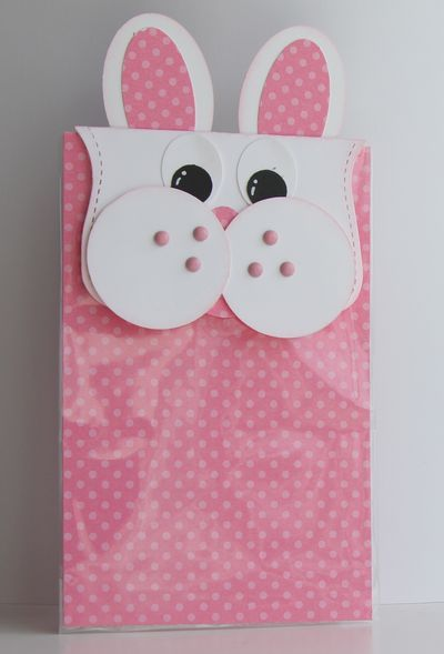 Easy Bunny Treat Bag to make (w/ Stampin' Up punches)