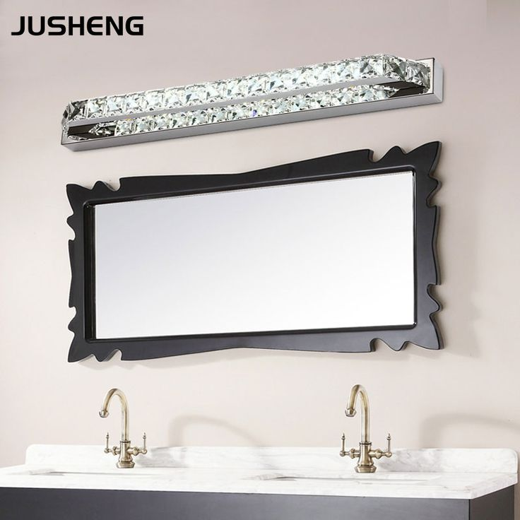 JUSHENG Luxurious Crystal Bathroom Wall Light 18W LED Mirror Light Fixtures  Indoor 68cm Long 100