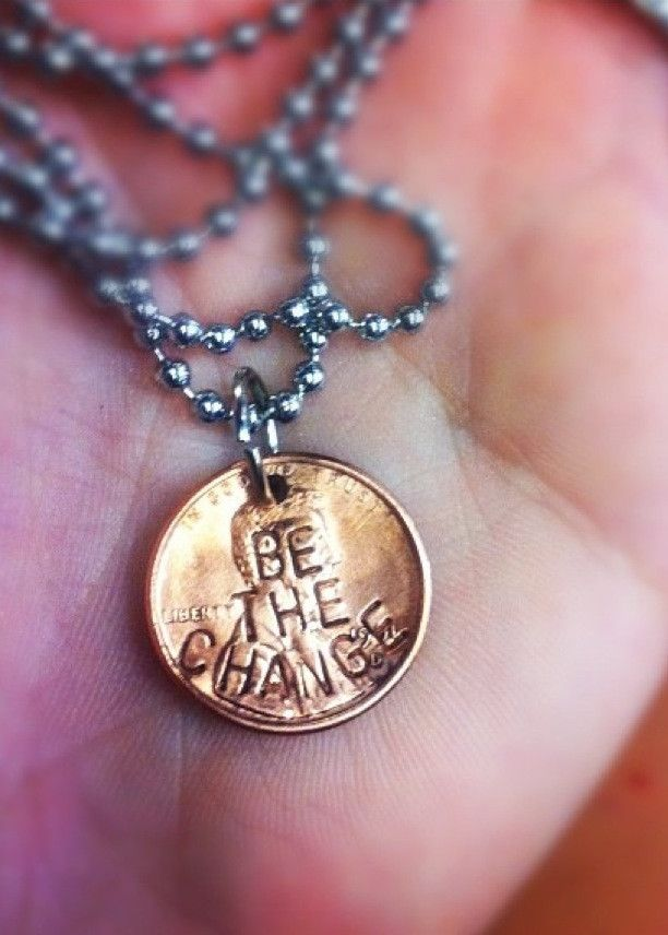 """""""BE THE CHANGE"""" PENNY NECKLACE"""