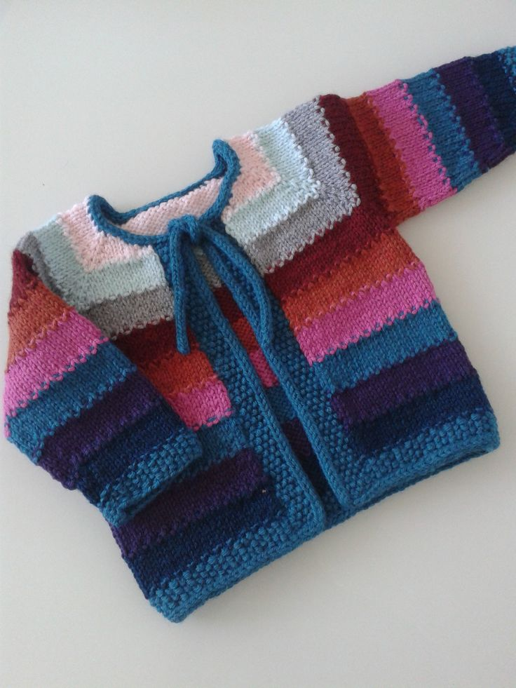 """Baby Tulip Sweater"" for Ty's baby girl, June 2014"