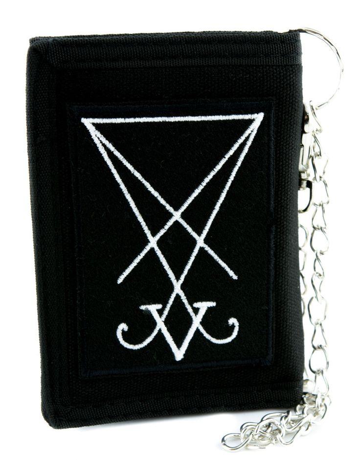 Sigil of Lucifer Symbol Tri-fold Wallet Occult Clothing Seal of Satan