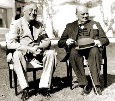 President Franklin Roosevelt and Prime Minister Winston Churchill - most important and most influential men of the 20th century