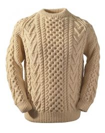 Brennan Clan Aran Sweater - Hand Knit