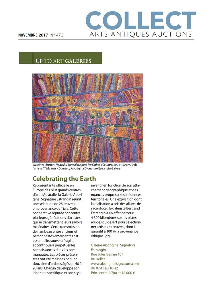 Magazine COLLECT : Celebrating the Earth http://www.aboriginalsignature.com/press/2017/11/16/magazine-collect-celebrating-the-earth