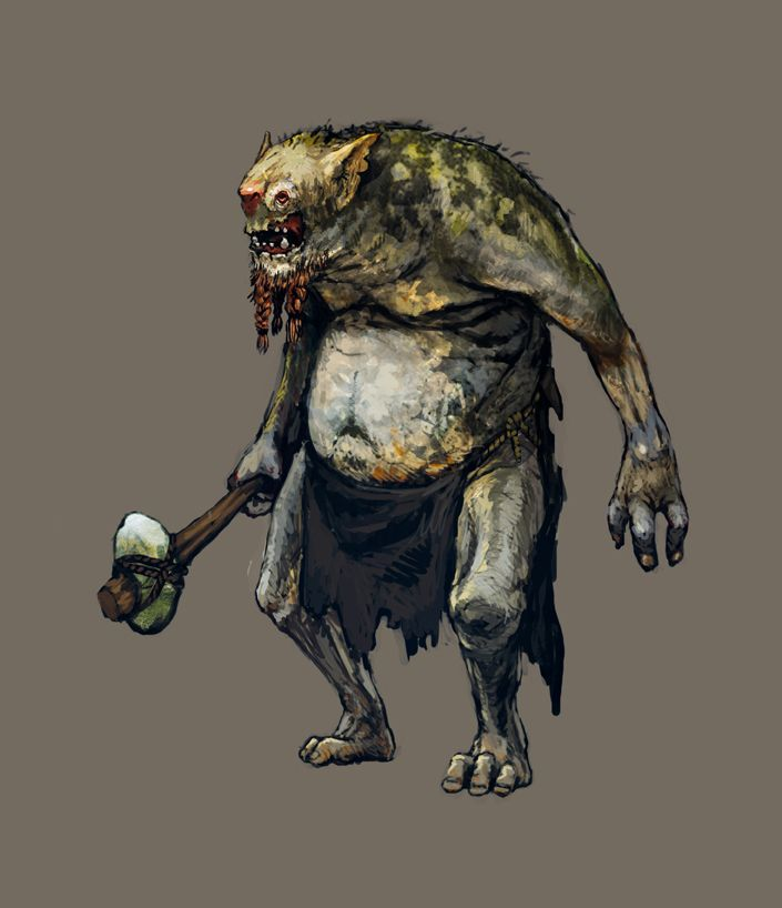 Witcher 3 GOG goodybag Troll by Scratcherpen