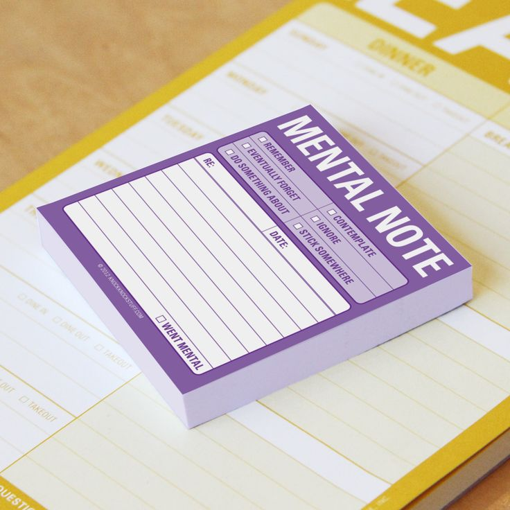 Knock Knock Mental Note Sticky Notes are funny office sticky notes as wry and witty as you! Post to-do notes for yourself with our cool office supplies.
