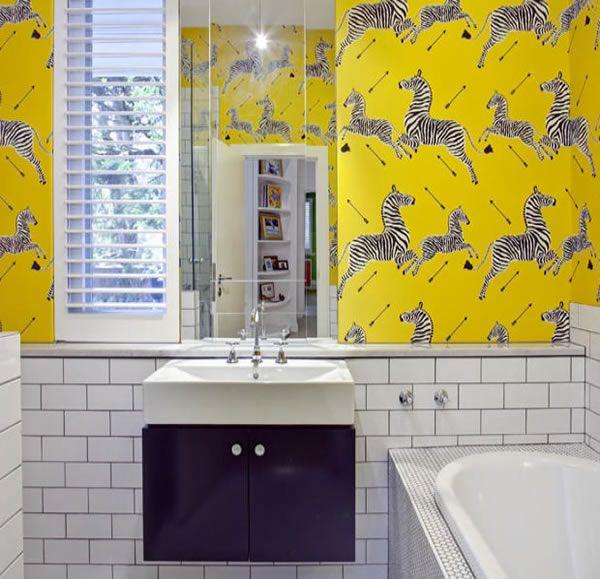 Attractive On The Market: Black/ White U0026 Colour All Over! Bathroom WallpaperZebra WallpaperWallpaper  PasteWallpaper ...