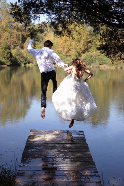 : Dresses Wedding, Wedding Dressses, Idea, Bride Grooms, Country Wedding, Trash The Dresses, Wedding Photo, Leap Of Faith, Wedding Pictures