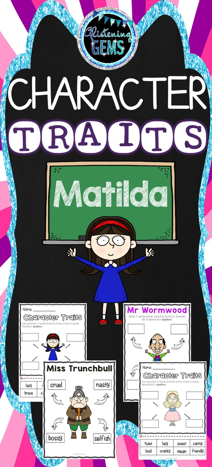the characters in roald dahls book: matilda essay In roald dahl's, matilda, the main character, matilda, is a child genius that is rejected by his parents as perfect as she may be, her parents can't seem to see that, and may as well have been an orphan.