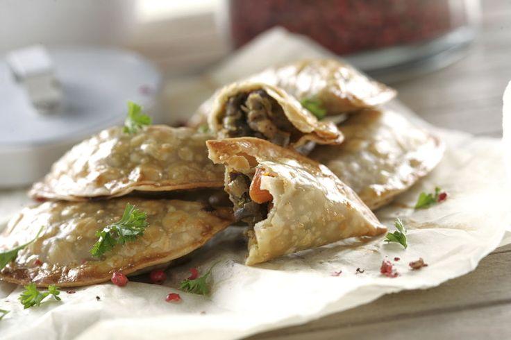 Empanadillas de hígado de ternera y verduras