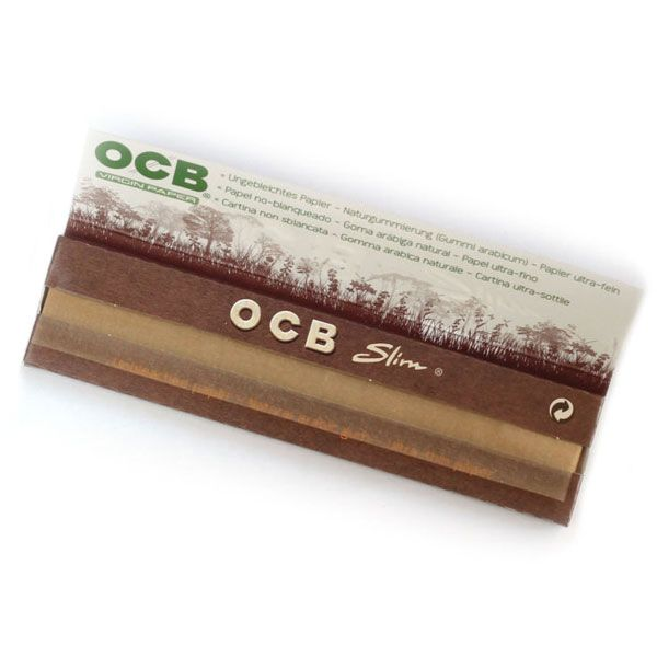 OCB Virgin Kingsize Slim Smoking Papers  are a new product released by ocb to compete in the unbleached smoking paper market. The Papers are a light natural brown colour due to the fact they are unbleached and the taste of your smoking mixture is not diluted with acrid paper taste.   Made by the World famous Paper Company OCB these Virgin roll your own papers are ultra thin but burn incredibly slowly making them the paper of choice for Smoking Connoisseurs.  We Sell Only Genuine OCB…